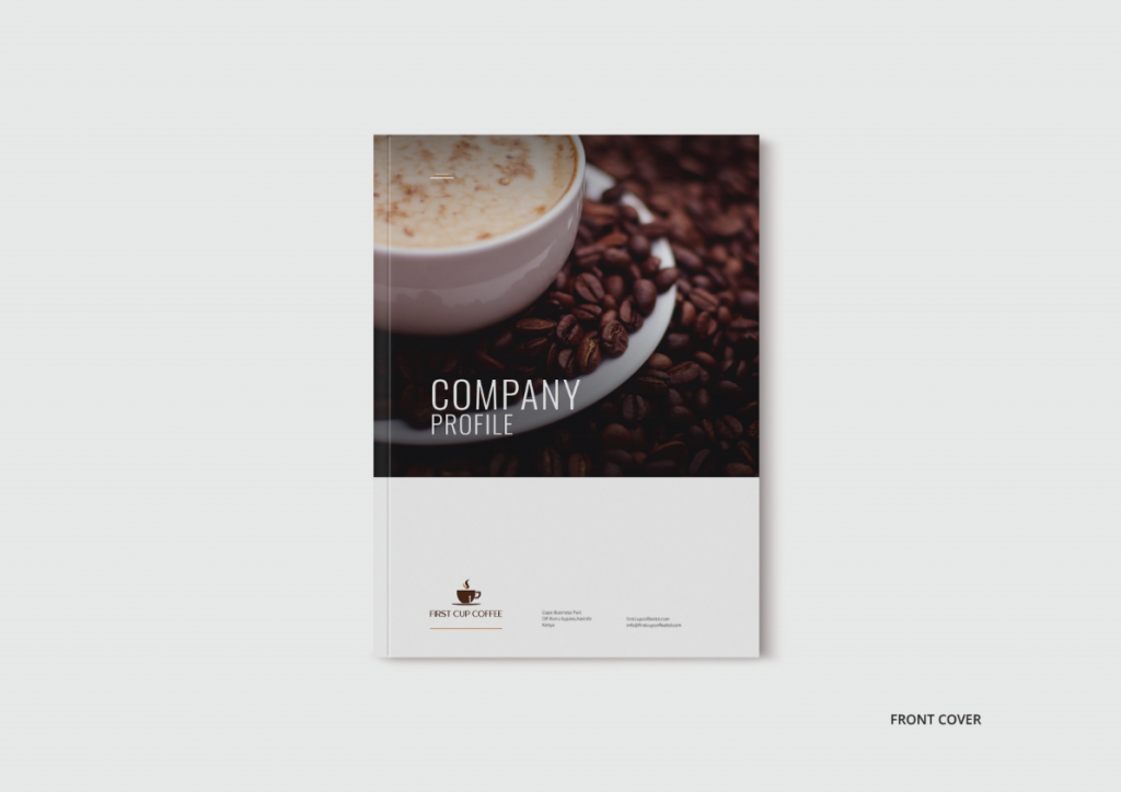 BWD Company Profile Cover Page first cup coffee
