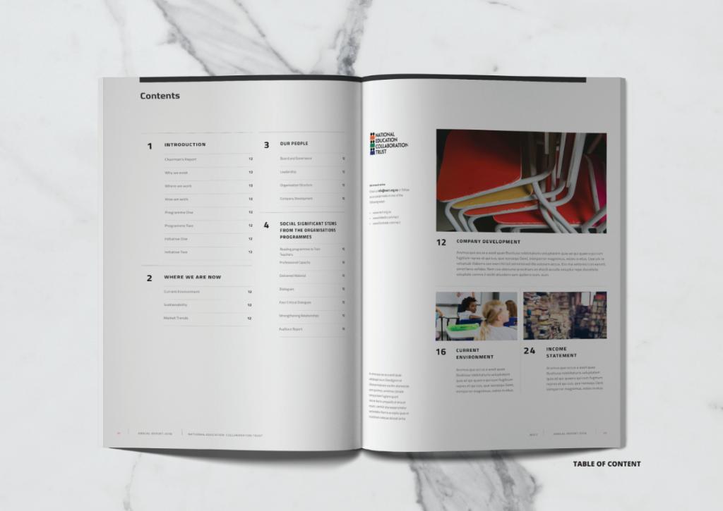 BWD Company Profile Interior pages design