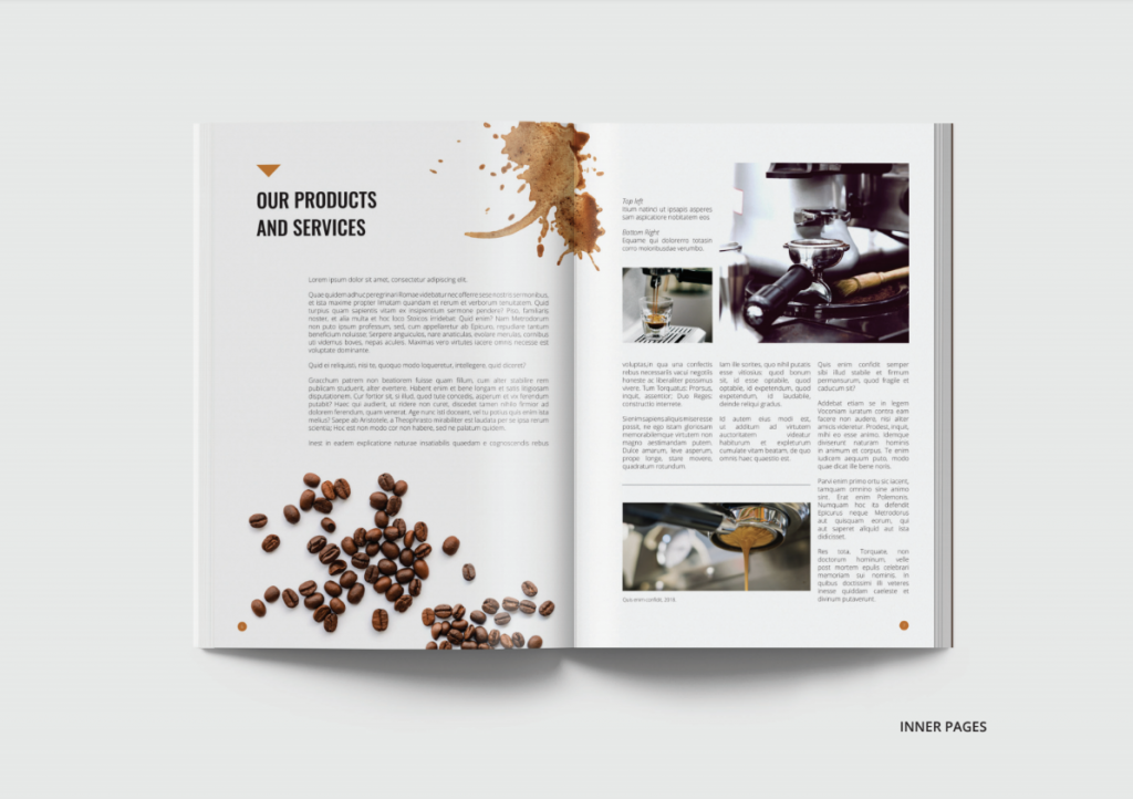 BWD company profile interior pages first cup coffee
