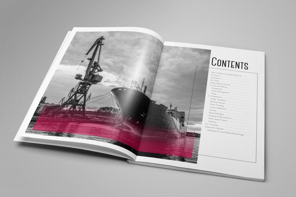 Company Profile contents page