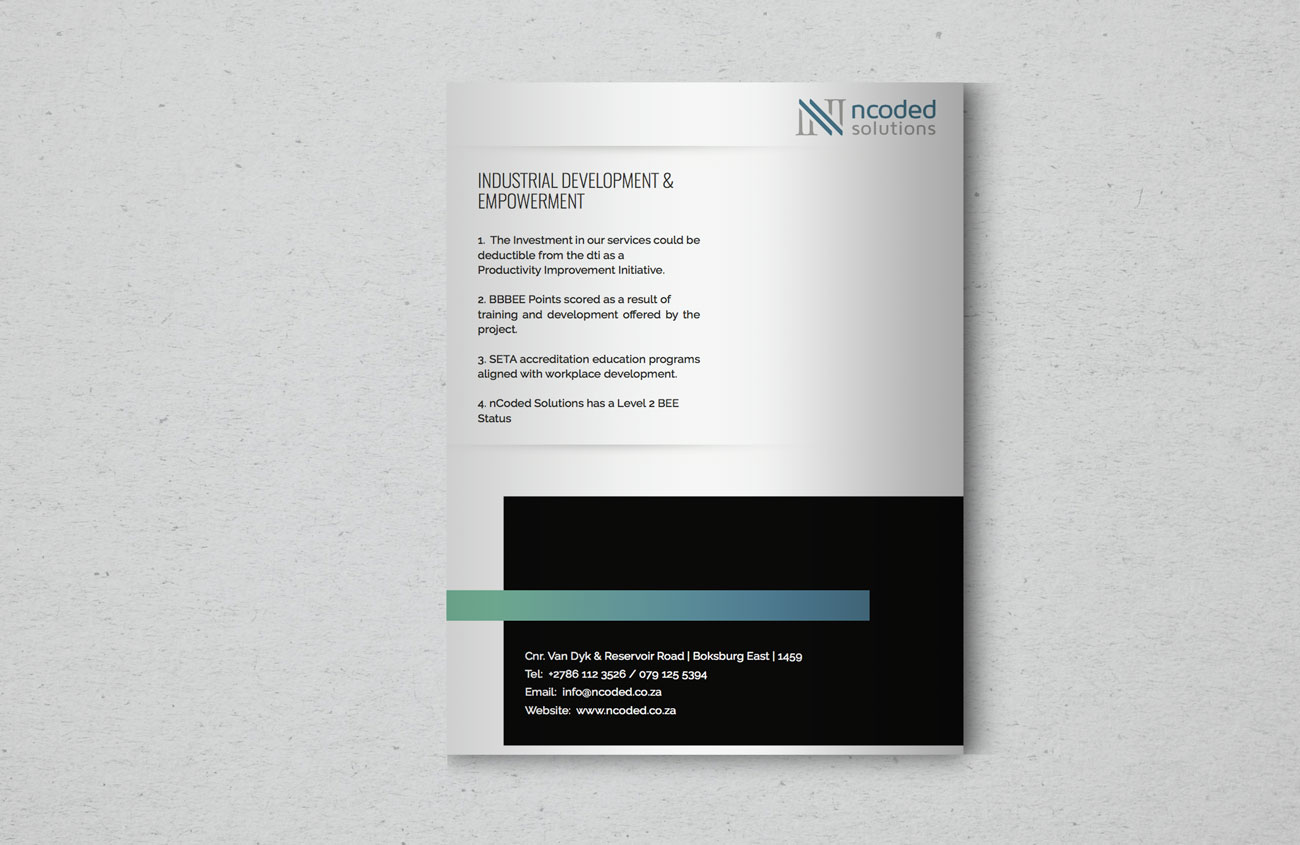 Company Profile Back Page